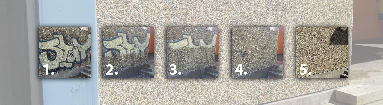Graffiti Entfernung Bildfolge