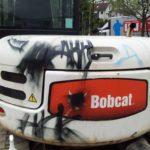 Fahrzeug vor Graffiti Entfernung