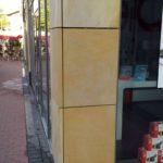 Steinfliesen nach Graffiti Entfernung
