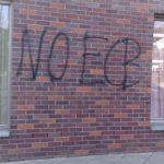 Klinker vor Graffiti Entfernung