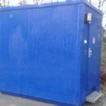 Container nach Graffiti Entfernung