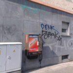 Wand vor Graffiti Entfernung