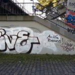 Treppe vor Grafitti Entfernung