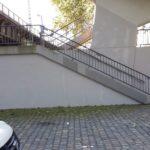 Treppe nach Grafitti Entfernung