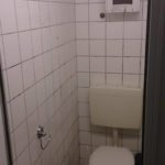 WC nach Graffiti Entfernung